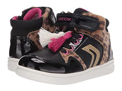 Geox Kids Djrock 29 (Toddler) (Black/Cognac) Girls Shoes