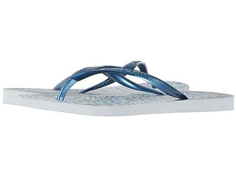Slim Animals Flip Flops, Grey/Navy Blue