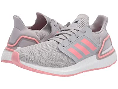 adidas Kids UltraBOOST 20 (Big Kid) (Grey/Glory Pink) Kid