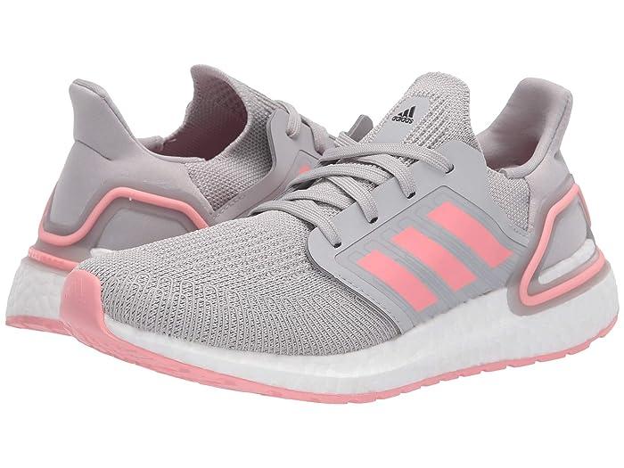 adidas Kids  UltraBOOST 20 (Big Kid) (Grey/Glory Pink) Kids Shoes