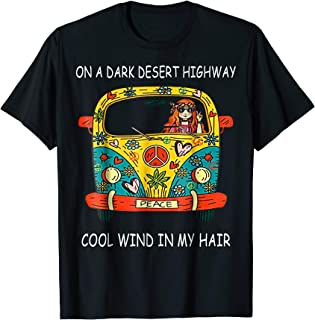 On Dark Desert Highway Cool Wind In Hair Vans Car Girl Shirt
