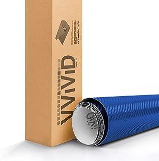 VViViD XPO Electric Blue 3D Carbon Fiber Vinyl Wrap Roll with Air Release Technology (6ft x 5ft)