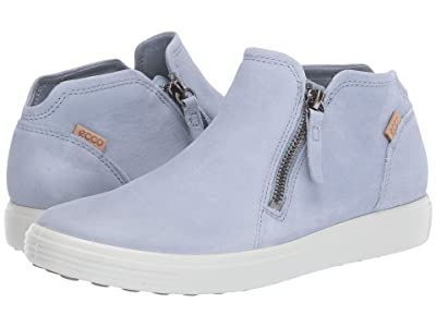 ECCO Soft 7 Low Cut Zip Bootie (Dusty Blue) Women