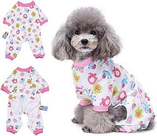 HongyH - Pijama para perro, diseño de caballo rojo pequeño, cómodo pijama para cachorro, suave chaqueta para perro, 100% algodón, para perros pequeños y gatos