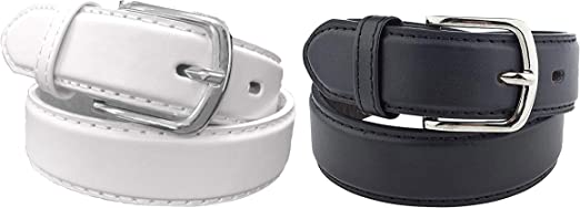 Available from Small to Large 2 Pack Kids Faux Leather 1 Belt