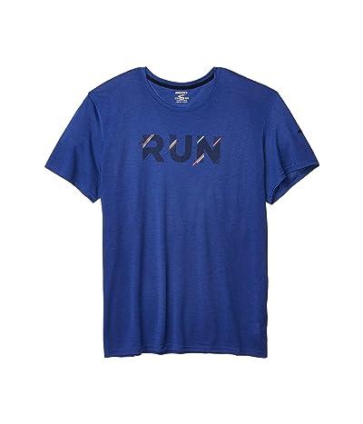 Brooks Distance Graphic T-Shirt (Cobalt/Run Stripe) Men