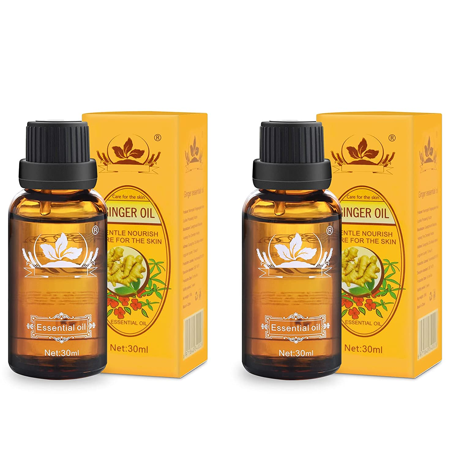 Ownest Be super welcome 2 Pack Miami Mall Ginger Massage Oil Lymphatic Pure Dra Natural 100%