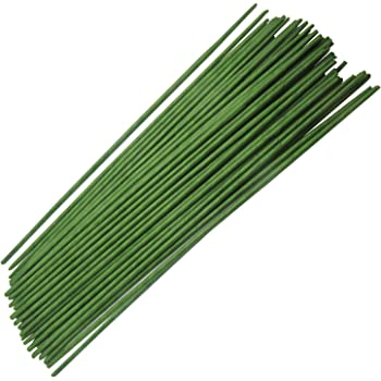 Homework2 Green Floral Stem Wire 18 Gauge Wire 12 Inch, Pack of 50