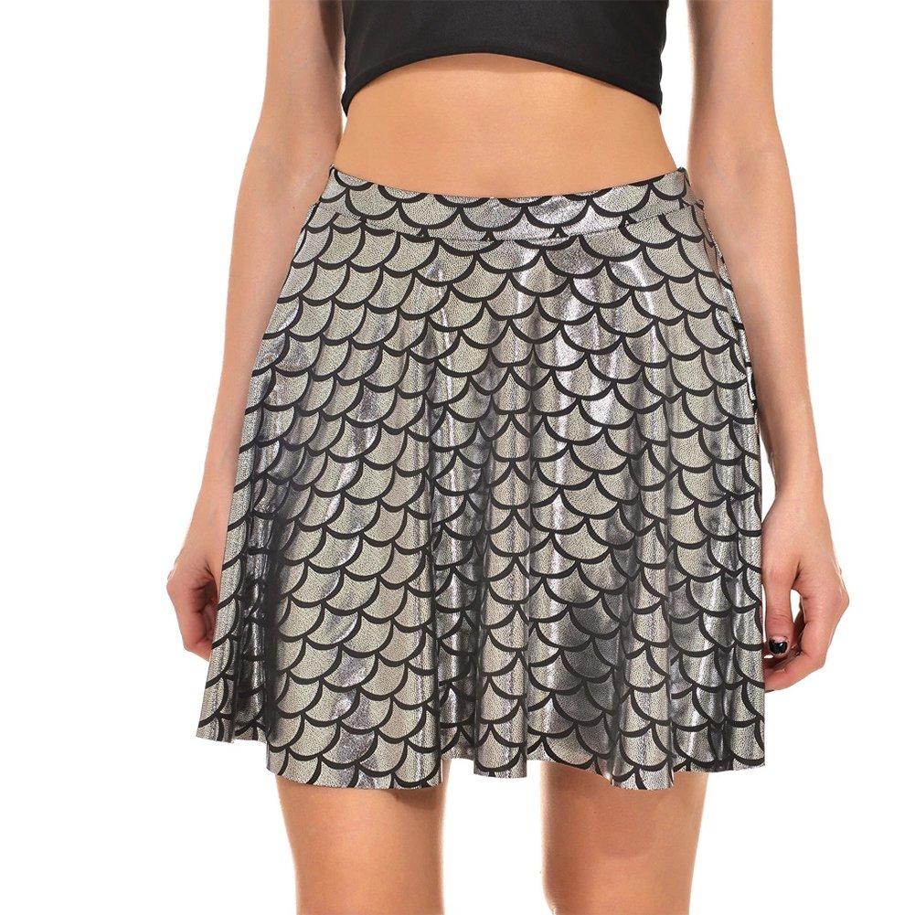 Moollyfox Mujer Escalas De La Falda Minifalda Faldas De Fiesta ...