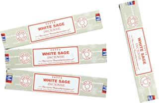Pure Aura Satya Nag Champa White Sage Incense Sticks - 4 Packs