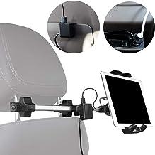 Macally Auto-Kopfstützen Tablet-Halterung mit USB-Lade-Hub &..