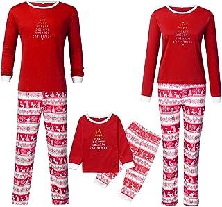 K-Youth Conjunto de Pijamas de Navidad Familia Ropa para Padres e Hijos Conjuntos Bebe Niño Navidad Ropa Mujer Hombre Invierno Bebé Niña Ropa de Dormir Familiares Navideño