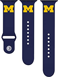 University of Michigan Wolverines 42mm Silicone Sport Watch Band Fits Apple Watch