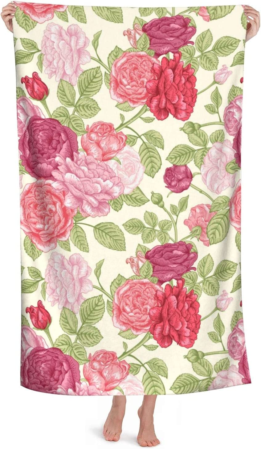 English Roses New sales Microfiber Beach Towels Quick store 52