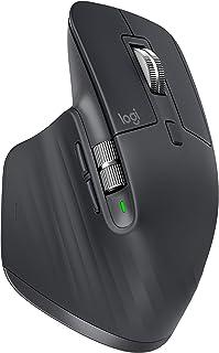 Logitech 910-005647, Mouse MX Master 3 Inalámbrico, Negro, Única