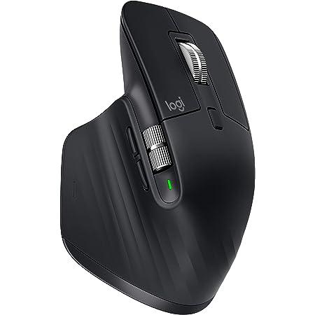 Logitech MX Master 3 Advanced Souris sans fil, Bluetooth + 2.4GHz USB, Défilement Rapide, Suvi 4000 DPI Toute Surface, Confortable, 7 Boutons, Rechargeable, PC/Mac/iPadOS - Noir