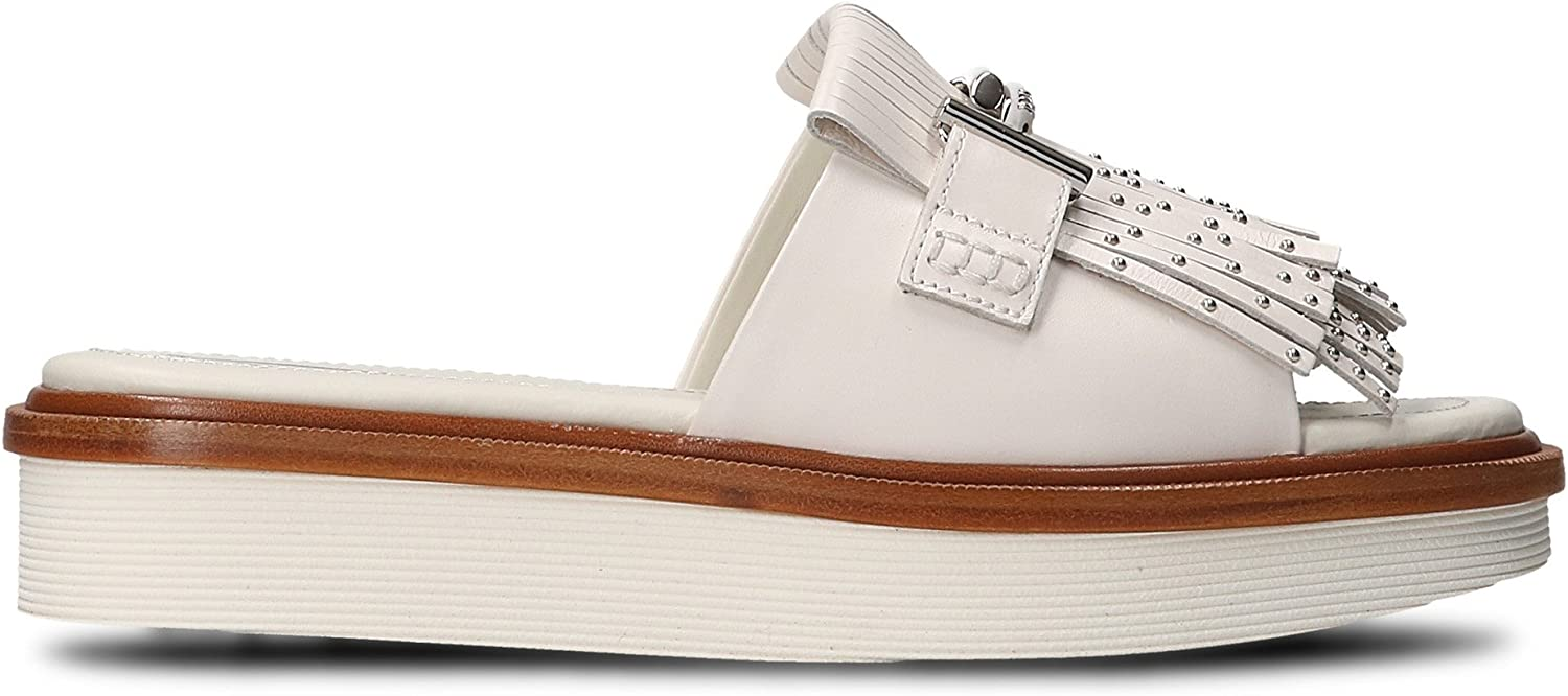 Tod's Women's XXW23A0Y500GOCB001 White Leather Sandals
