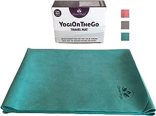 Travel Yoga Mat - Foldable, Absorbent and Machine Washable and Dry - Non Slip Yoga Mats for Bikram and Hot Yoga - YogiOnTheGo Thin Hot Yoga Mat