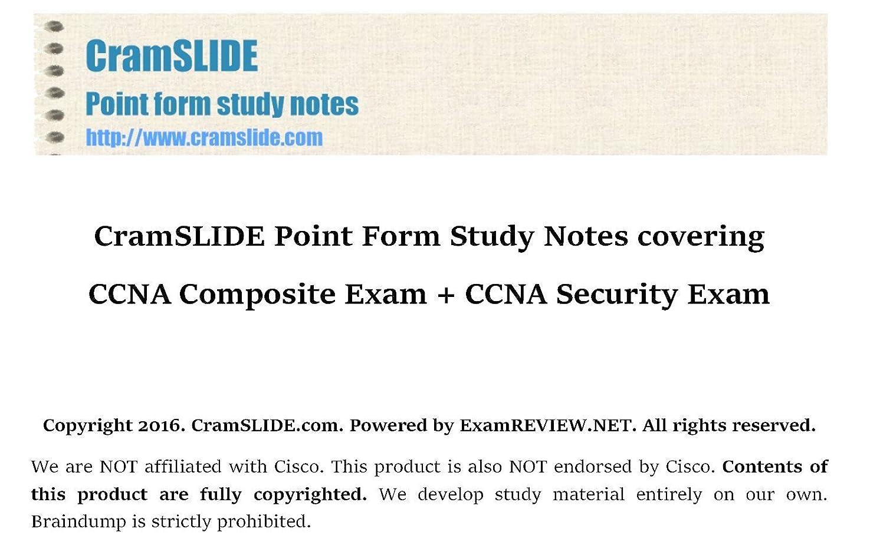 祝うメロドラマティック列挙するCramSLIDE Point Form Study Notes covering CCNA Composite Exam + CCNA Security Exam (English Edition)