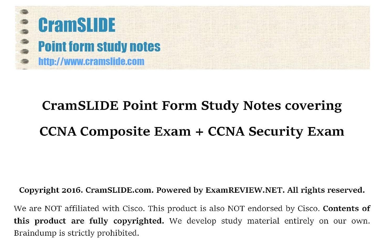 接尾辞迷彩また明日ねCramSLIDE Point Form Study Notes covering CCNA Composite Exam + CCNA Security Exam (English Edition)