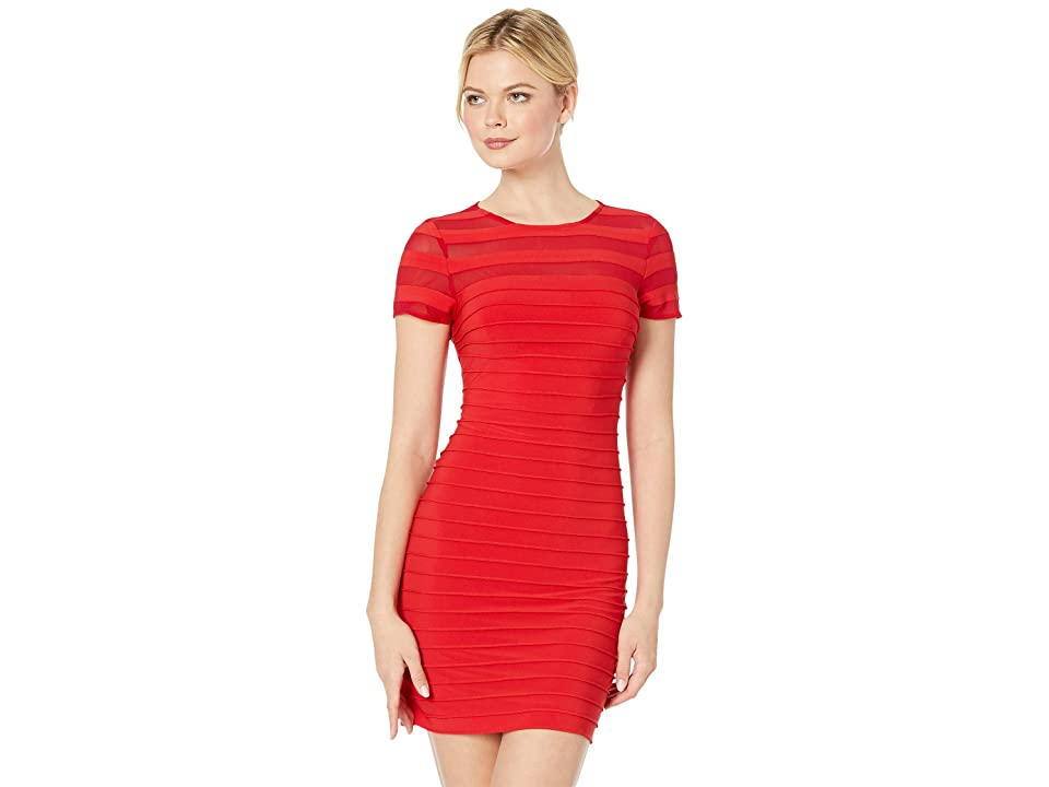 eb2686ced147 Adrianna Papell A-Line Banded Mini Dress (Red Polish) Women's Dress
