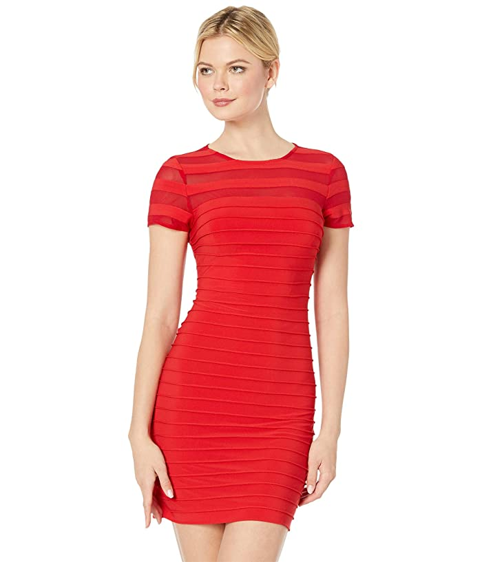 Adrianna Papell A-Line Banded Mini Dress (Red Polish) Women