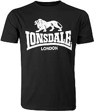 Lonsdale Men´s Regular-Fit Classic Lion Logo T-Shirt Black