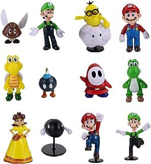 smileh Figuren Super Mario Tortenfiguren Mario Geburtstag Kuchen Decorations 12PCS Mario Bros Mini Figuren Set