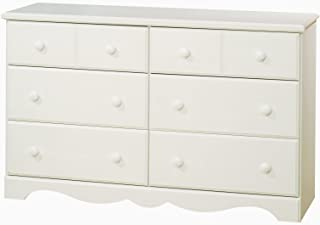 South Shore Furniture Summer Breeze Bedroom Collection, 6 Drawer Dresser, Vanilla Cream