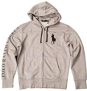 Mens Big Pony Full Zip Hoodie Sweatshirt