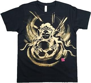 観音の心 Tシャツ 白黒 半袖 和柄 日本画 手描き 墨絵 伯舟庵