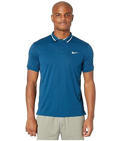 Nike NikeCourt Dry Polo Pique (Valerian Blue/White/White) Men
