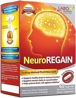 LABO Nutrition NeuroREGAIN - Scallop-derived PLASMALOGEN for Brain Deterioration, Memory, Alertness, Learning, Concentrati...