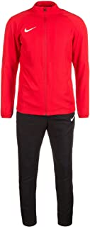 Nike Herren Dry Academy 18 Herren Trainingsanzug Tracksuit Jogginganzug schwarz rot , Bekleidungsgröße:M