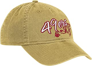 NFL Women's Fan Gear Team Color Slouch Adjustable Hat - EQ58W, San Francisco 49ers, One Size Fits All