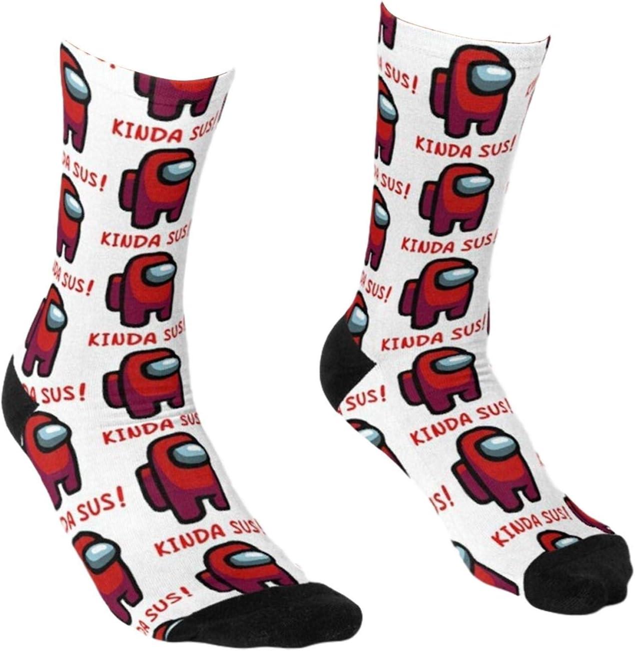chaussettes amusantes et color/ées avec motif de dessin anim/é pour f/ête pour adultes et enfants Among Us Crew Chaussettes unisexes Crew Chaussettes pour femme