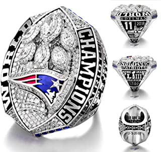 GOOD&RINGS Edelman NFL Official 2018-2019 Championship Ring Super Bowl The New England Patriots Size 11