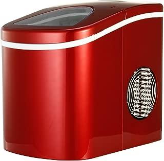 Shop405 製氷機 家庭用 新型 高速 自動製氷機 (氷 2サイズ)かき氷 レジャー アウトドア 簡単 大容量 レッド 405-imcn01