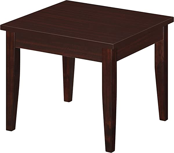 OfficeSource End Table Superior High Grade Mahogany Laminate Construction Easy To Clean Office Reception Waiting Rooms Education PL220MH