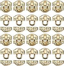 INCREWAY 20 Pack 29mmx26mm Box Klink Set,Lade kabinet Sieraden Houten Case Box Hasp Klink Hasp, Goud