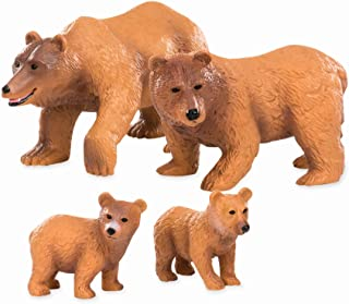 Terra by Battat – Brown Bear Family – Small Brown Bear Animal Figures for Kids 3-Years-Old & Up (4 Pc)