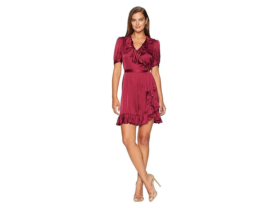 JILL JILL STUART Wrap Ruffle Dress (Wineberry) Women