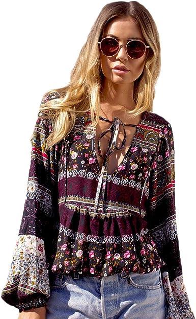 Blusas Verano Mujer Boho Beach Vintage Camisas Festival ...