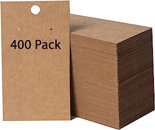 400 Pack Earring Cards - Earring Card Holder - Custom Earring Cards for Earring Display - Hanging Earrings - Bulk Earring Cards - 2 x 3.5 Inches - Brown