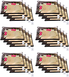 Kuber Industries Non Woven Single Packing Saree Cover 24 pcs Set (Black),CTKNEW123