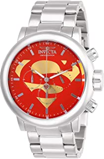 Invicta Men's DC Comics Quartz Stainless-Steel Strap, Silver, 24 Casual Watch (Model: 27605)