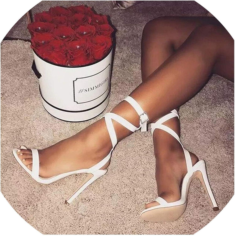 Casual Buckle Sandalias para High Heel Sandals Open Toe Heels Women's shoes Size 34-43