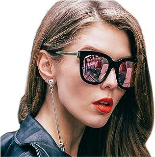 491538d2da SIPHEW Gafas de Sol Mujer/Hombre Grandes, Gafas de sol de Moda Eliminar  Reflejos