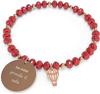 10 Buoni Propositi Bracciale Donna Prendo Il Volo Collezione Crystal Rose Gold