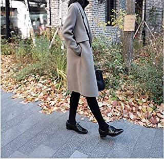 Winter Clothing for Women Coat Handmade Wool Windbreaker Women's Long Jacket Autumn and Winter Warm Jacket Over The Knee Suit Collar Ladies Coat (Color : Green, Size : XS)